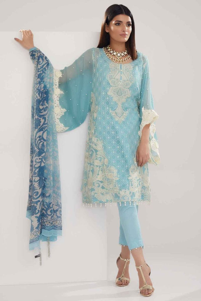 Khaadi Luxury Collection 2018 – P18202 Blue