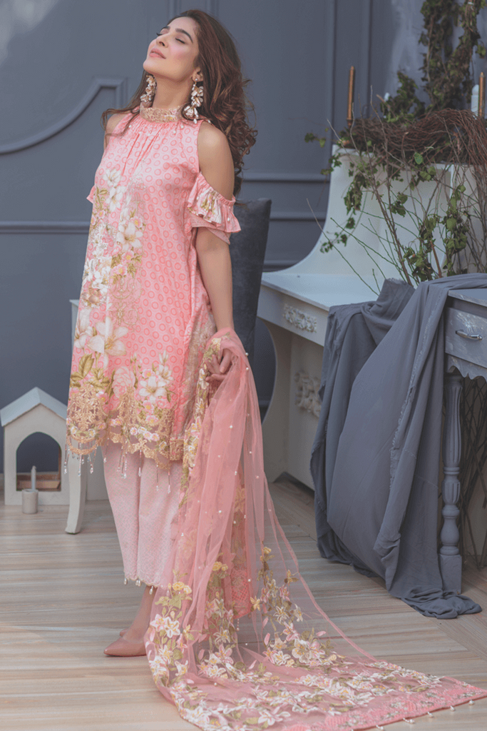 Rang Rasiya Premium Lawn Collection 2018 – Gilded Lily 2A