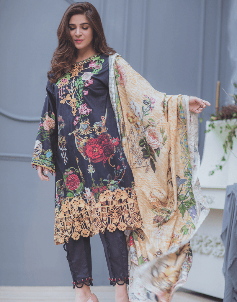 Rang Rasiya Premium Lawn Collection 2018 – Jewelled Nouveau 4B