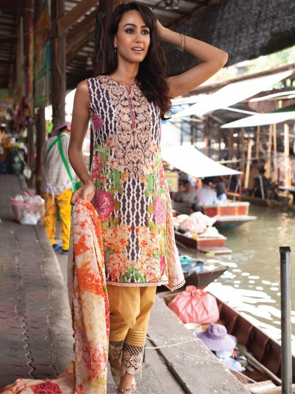 Rehaab Lawn Collection '16 – Desire Lily RJ-160051 - YourLibaas  - 1