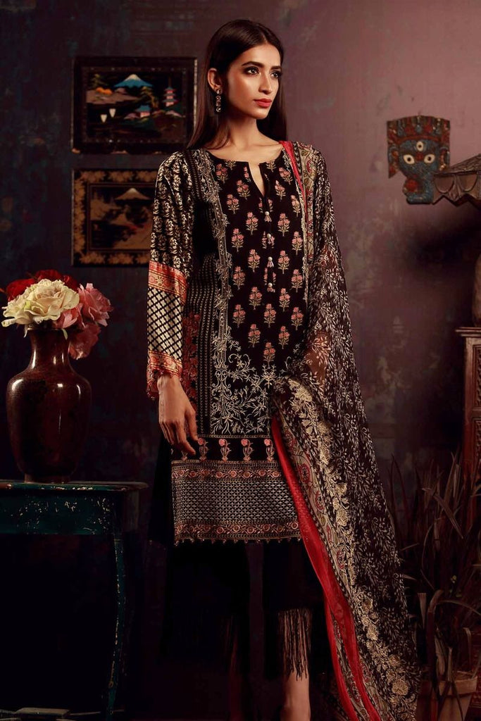 Khaadi Luxury Collection 2017 – Black Q17501