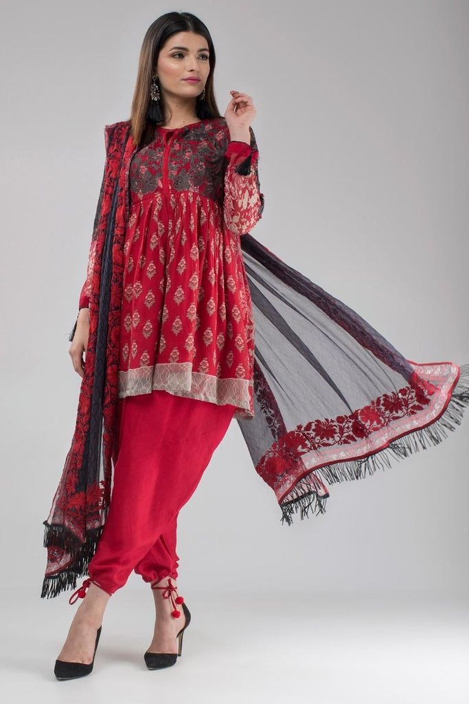 Khaadi Luxury Collection 2018 – Q18203 Red
