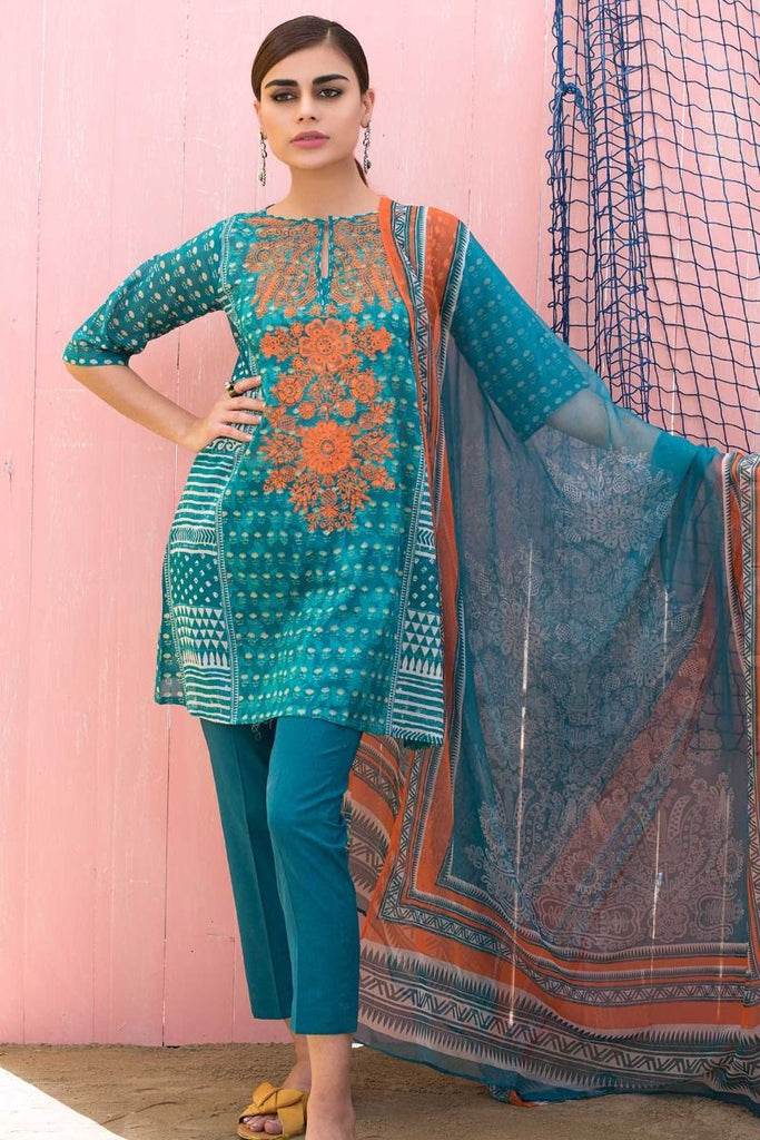 Khaadi Classics Lawn Collection 2018 – R18102 Green 3Pc