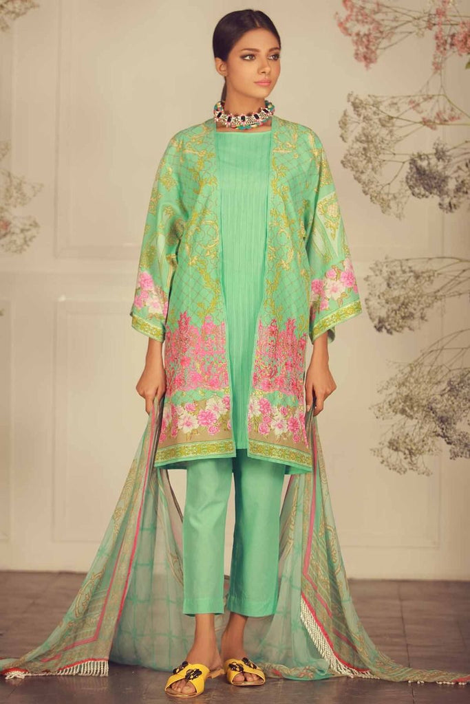 Khaadi Summer Lawn Collection 2018 Vol-2 – R18202 Green