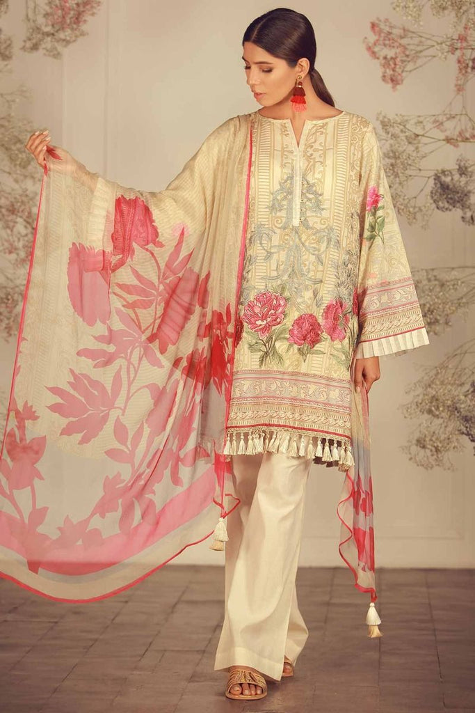 Khaadi Summer Lawn Collection 2018 Vol-2 – R18203 Beige