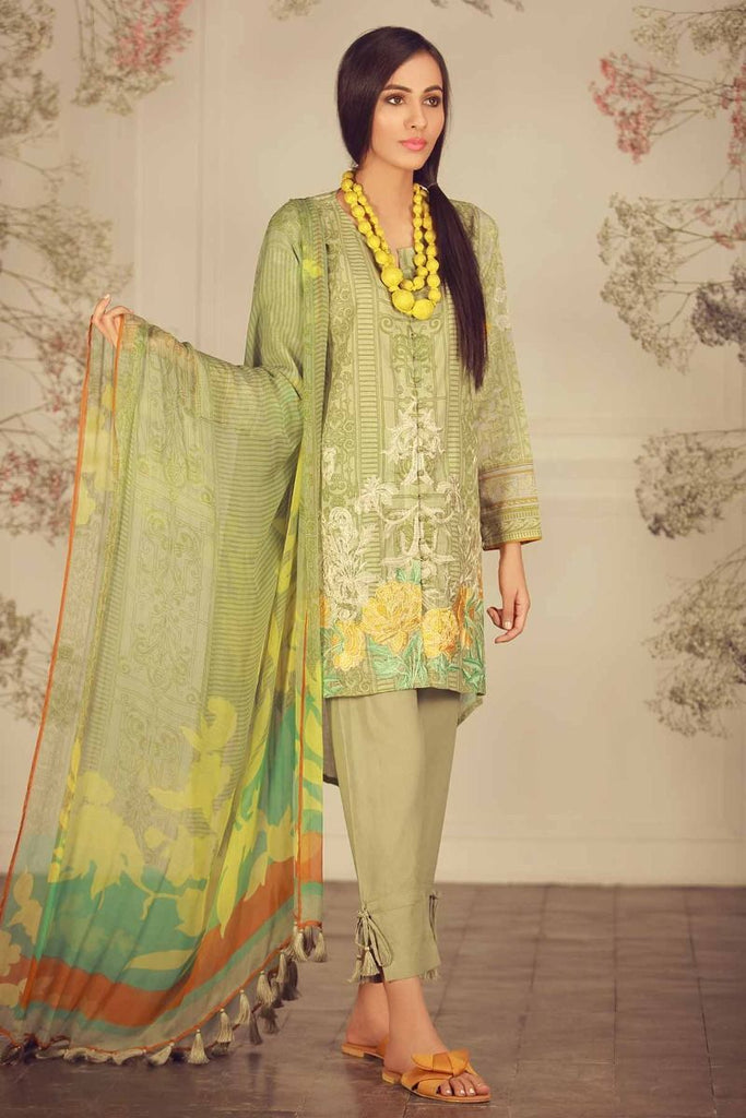 Khaadi Summer Lawn Collection 2018 Vol-2 – R18203 Green