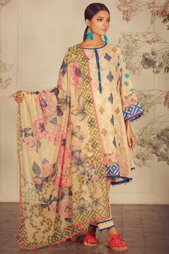 Khaadi Luxury Collection 2018 – R18207 Beige