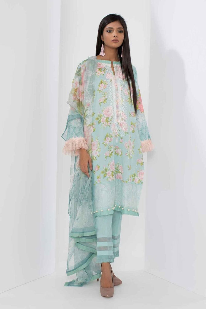 Khaadi Mid Summer Lawn Collection 2018 – R18302 Green 3Pc