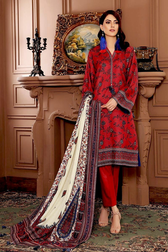Gul Ahmed Winter Collection – 3 PC Digital Printed Karandi Suit ADP-03
