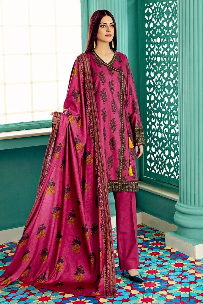 Gul Ahmed Winter Collection – 3 PC Digital Printed Twill Linen Suit LT-19