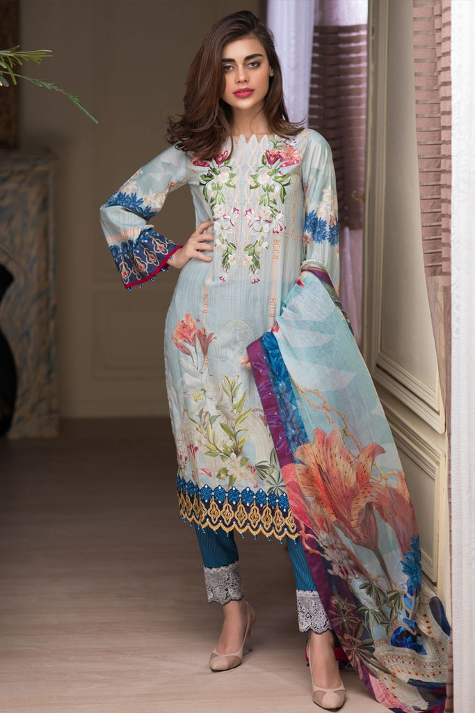 Firdous Malhar Lawn Collection 2018 – MAL-03