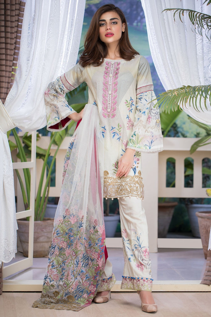 Firdous Malhar Lawn Collection 2018 – MAL-09