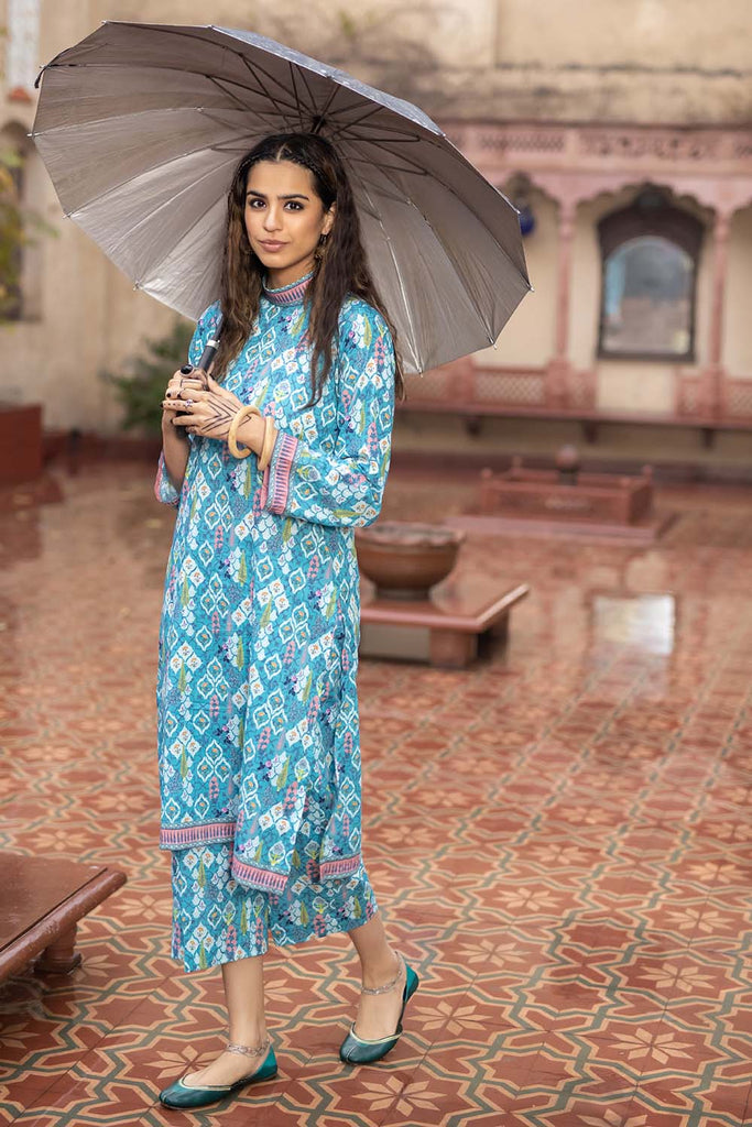 Gul Ahmed Summer Basic Lawn 2021 · 1PC Unstitched Digital Printed Lawn Fabric SL-968 B