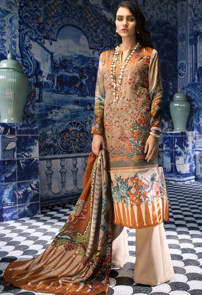 Sana Safinaz Silk Collection 2018 – Zinia - 03A