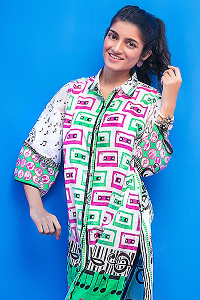 Gul Ahmed YOLO Collection 2018 – Green 1 Pc Printed Lawn Shirt SL-436