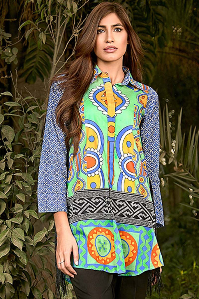 Gul Ahmed YOLO Collection 2018 – Green 1 Pc Printed Lawn Shirt SL-452 A