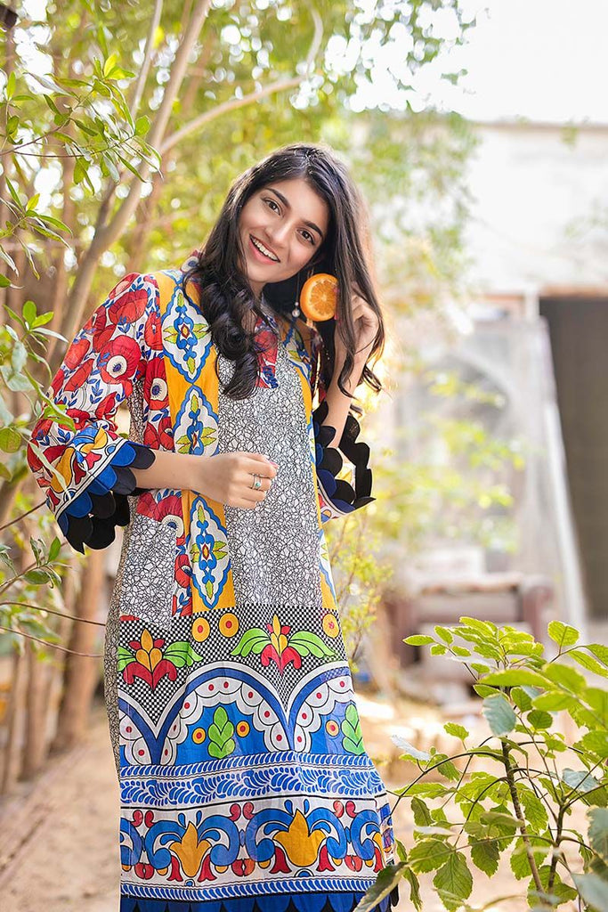 Gul Ahmed YOLO Collection 2018 – Blue 1 Pc Printed Lawn Shirt SL-454