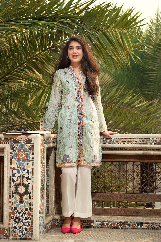 Gul Ahmed Summer Essential Collection 2018 – Pista 1 Pc Printed lawn SL-468 A