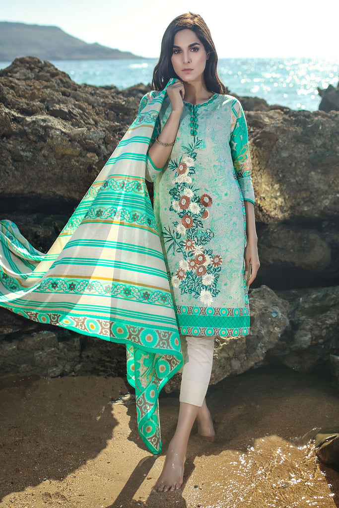 AlKaram Spring/Summer 2018 – 2 Piece Embroidered Lawn – SS-76 Green
