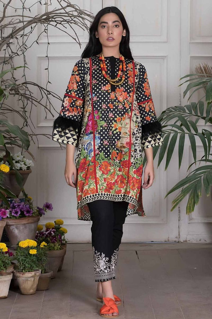 Khaadi Summer Lawn Collection 2018 Vol-2 – T18201 Black