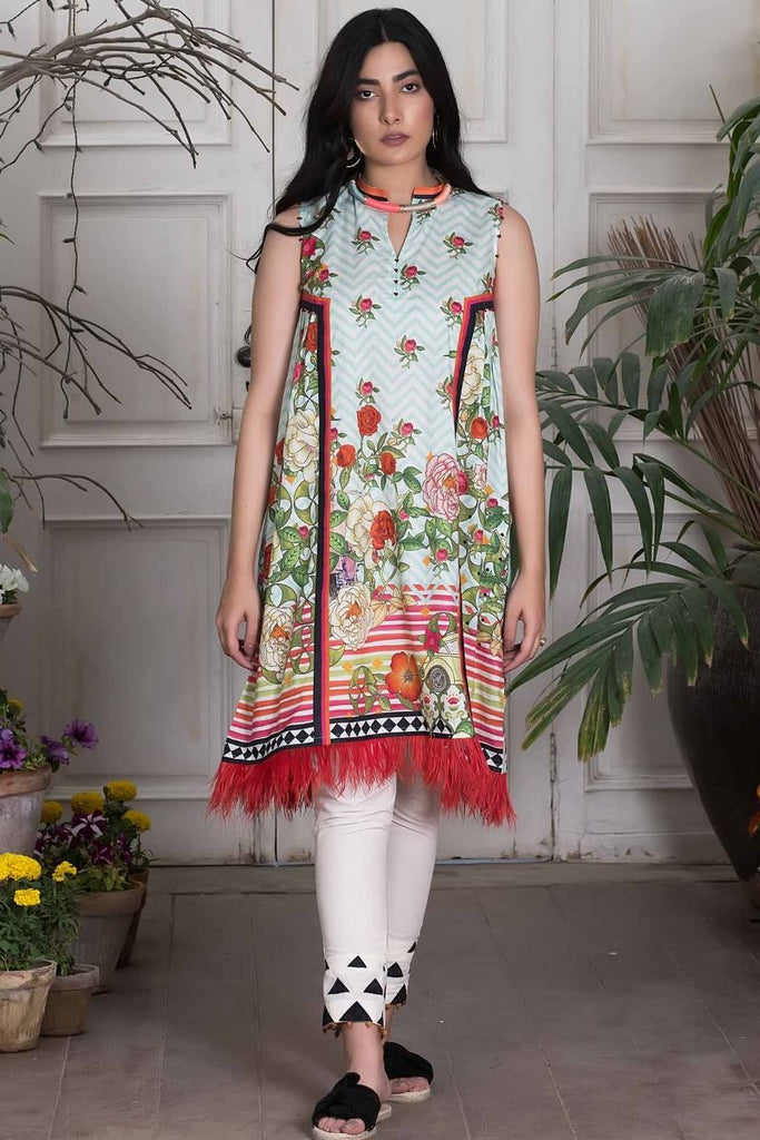 Khaadi Summer Lawn Collection 2018 Vol-2 – T18202 Blue