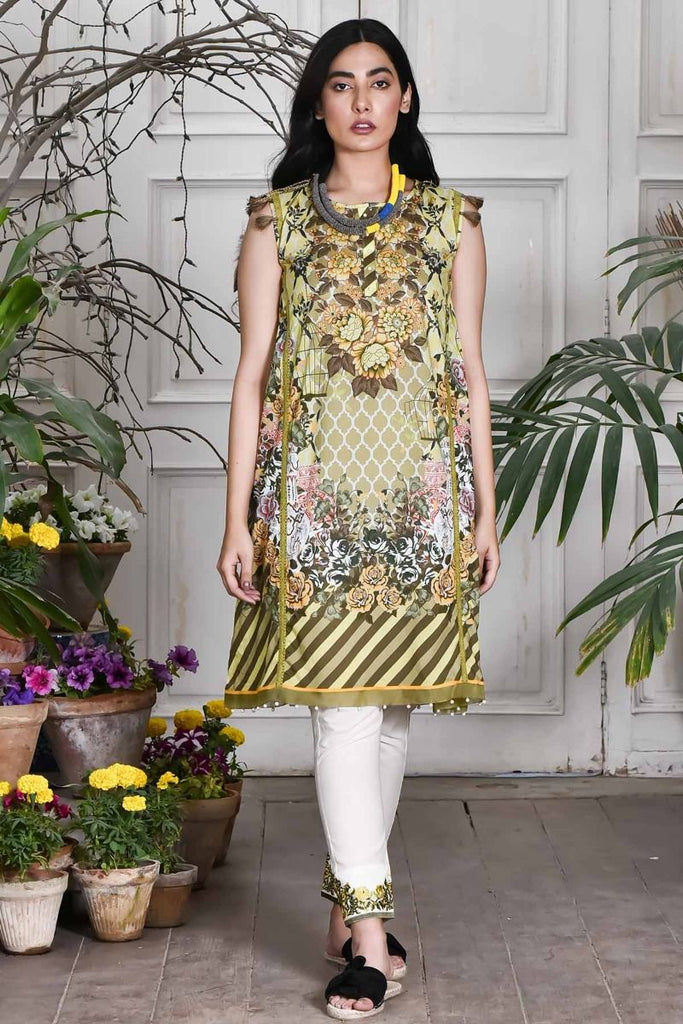 Khaadi Summer Lawn Collection 2018 Vol-2 – T18203 Yellow