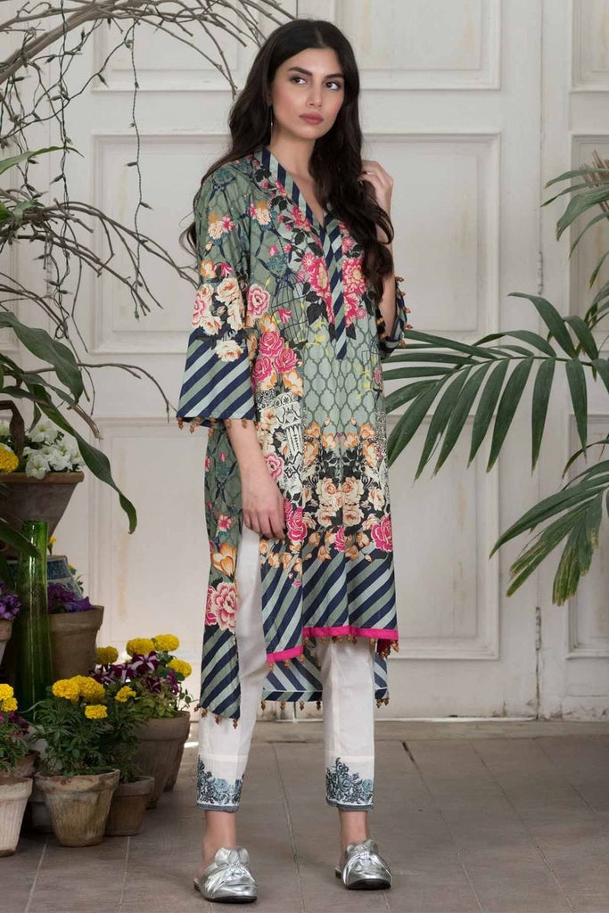 Khaadi Summer Lawn Collection 2018 Vol-2 – T18203 Green