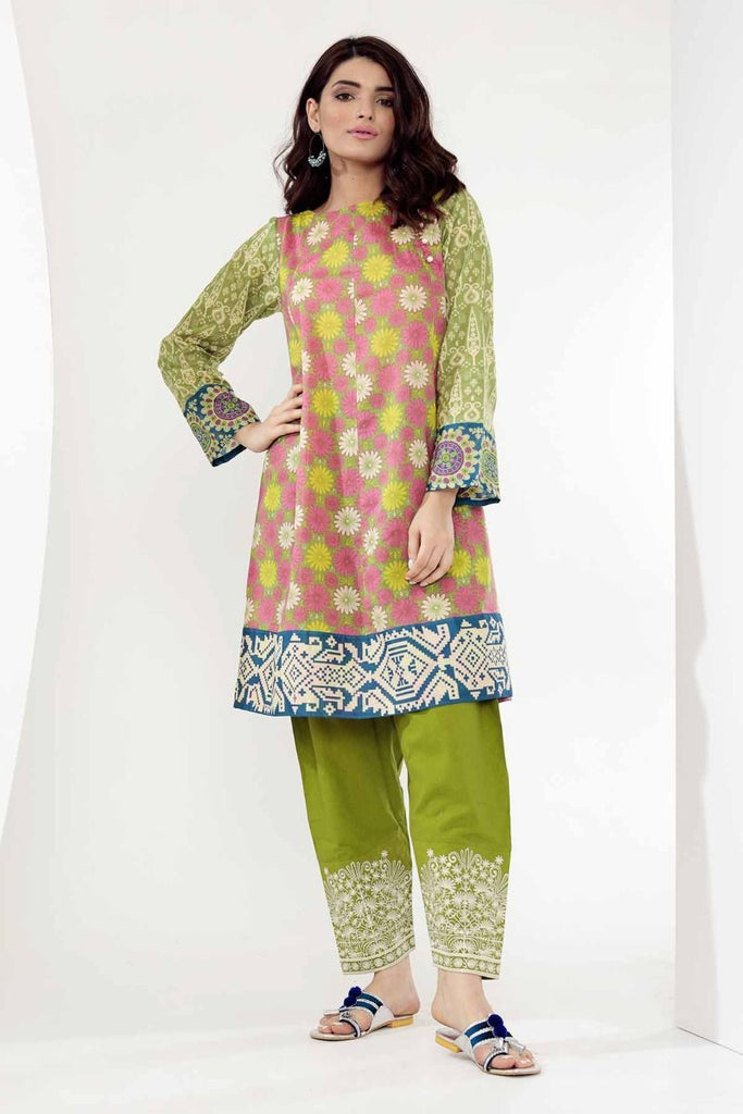 Khaadi Mid Summer Lawn Collection 2018 – T18301 Green 2Pc