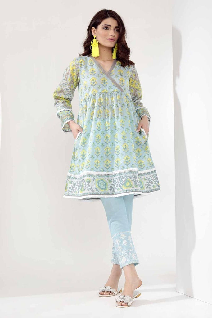 Khaadi Mid Summer Lawn Collection 2018 – T18302 Blue 2Pc