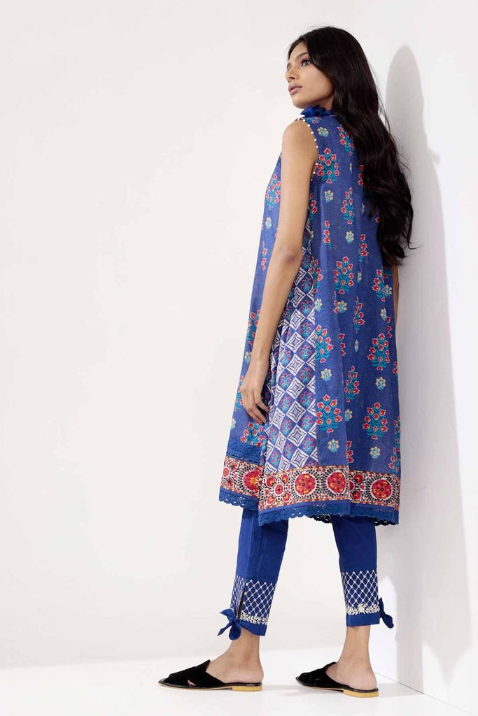 Khaadi Mid Summer Lawn Collection 2018 – T18303 Blue 2Pc