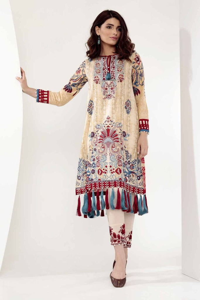Khaadi Mid Summer Lawn Collection 2018 – T18305 Beige 2Pc