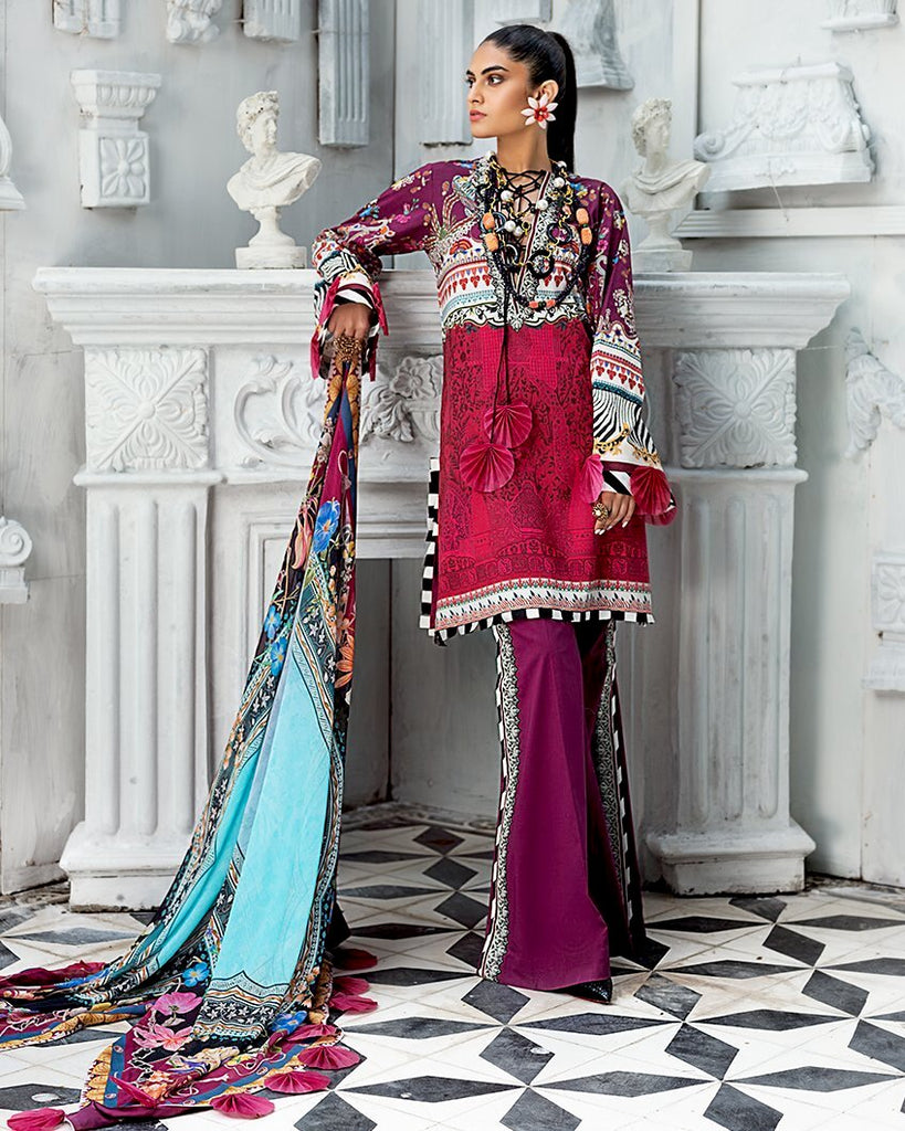 Zaha by Khadijah Shah – Spring/Summer Lawn Collection 2020 – FIORELLA (ZL-18)