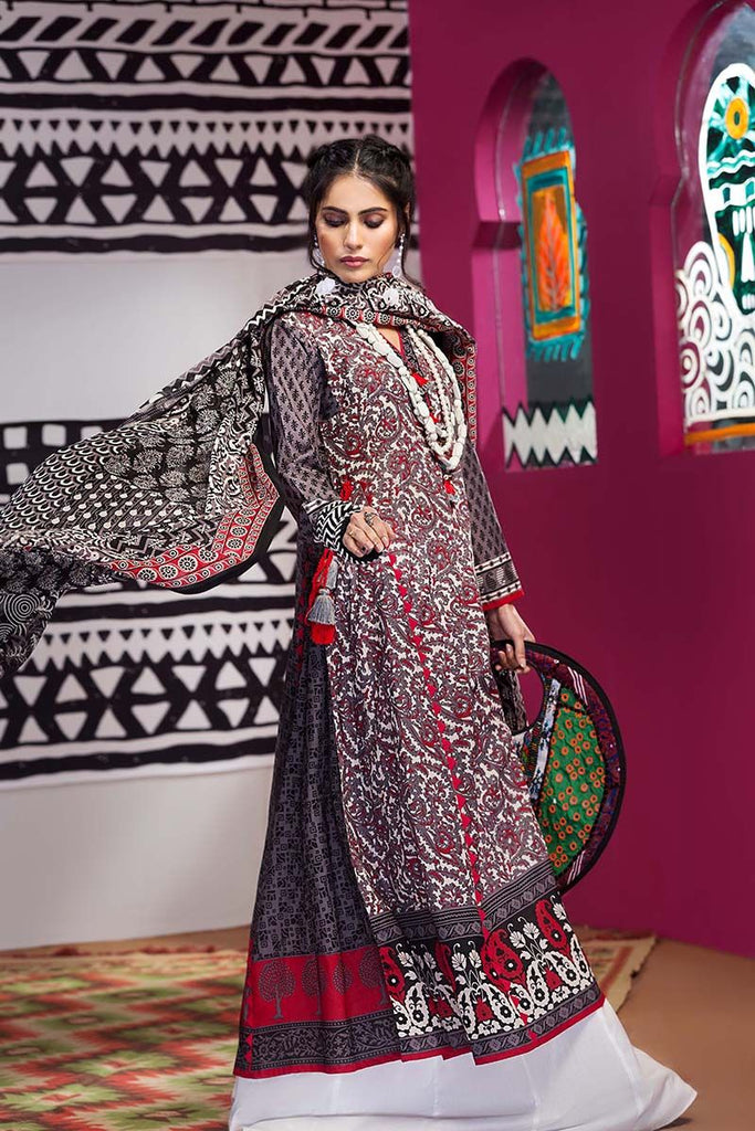 Gul Ahmed Summer Essential Collection 2018 – Grey 2 Pc Printed Lawn TL-107 A