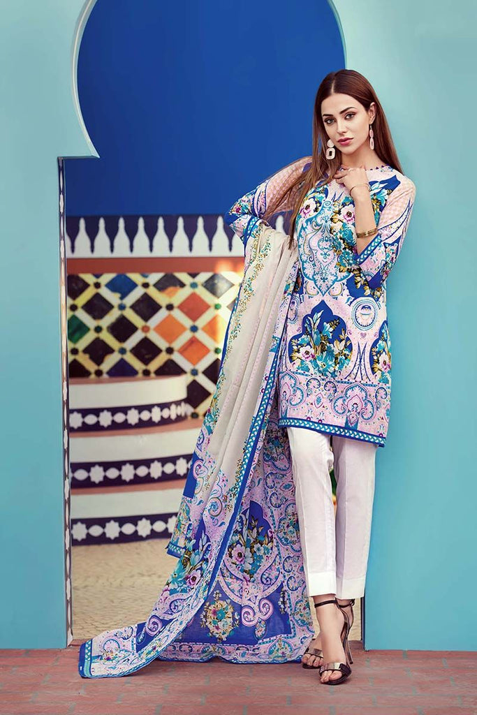 Gul Ahmed Summer Essential Collection 2018 – Multi 2 Pc Printed Lawn TL-112 A