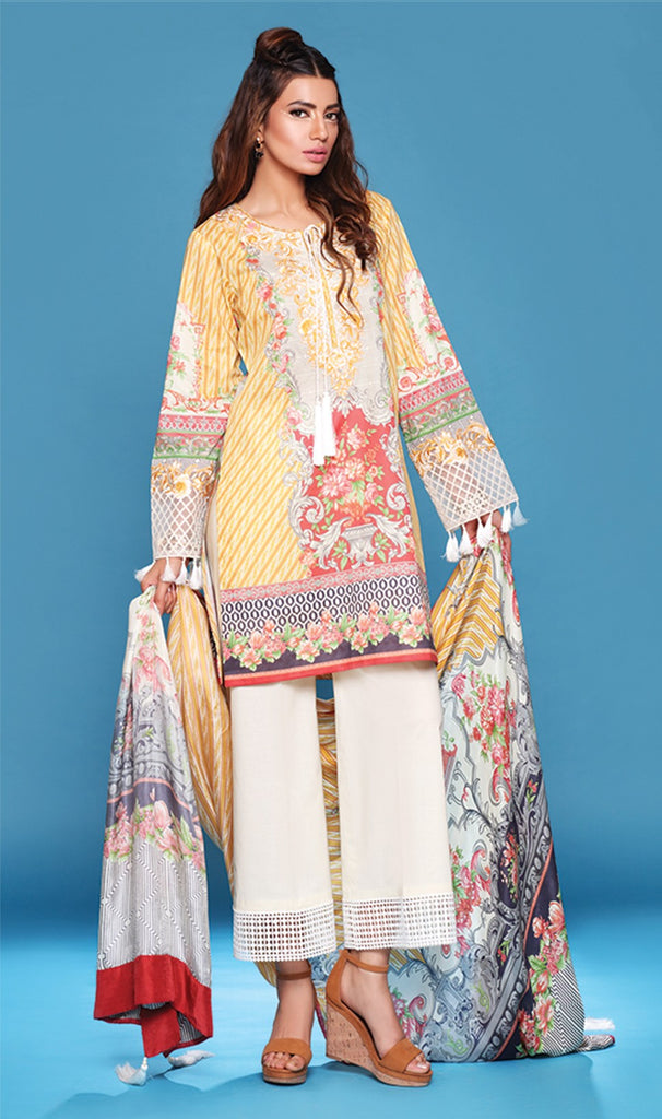 Sapphire Lawn Collection 2016 – Eid Edition –  Regal Ornate B - YourLibaas  - 1