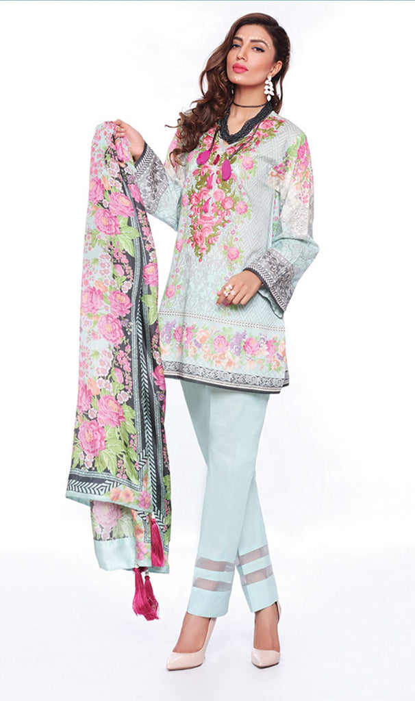 Sapphire Lawn Collection 2016 – Eid Edition – Russian Curlicue B - YourLibaas  - 1