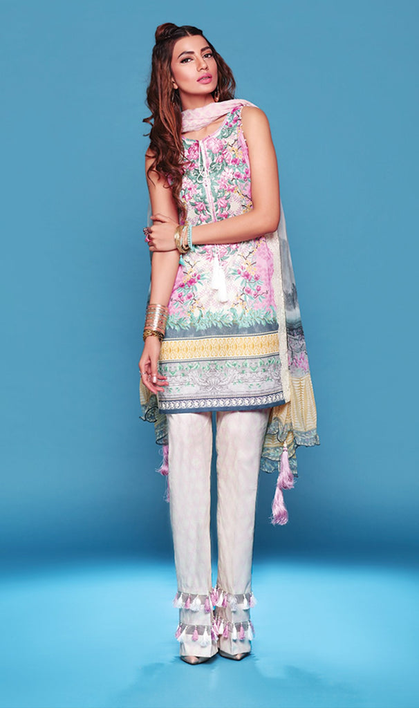 Sapphire Lawn Collection 2016 – Eid Edition – Chinese Twill A - YourLibaas  - 1