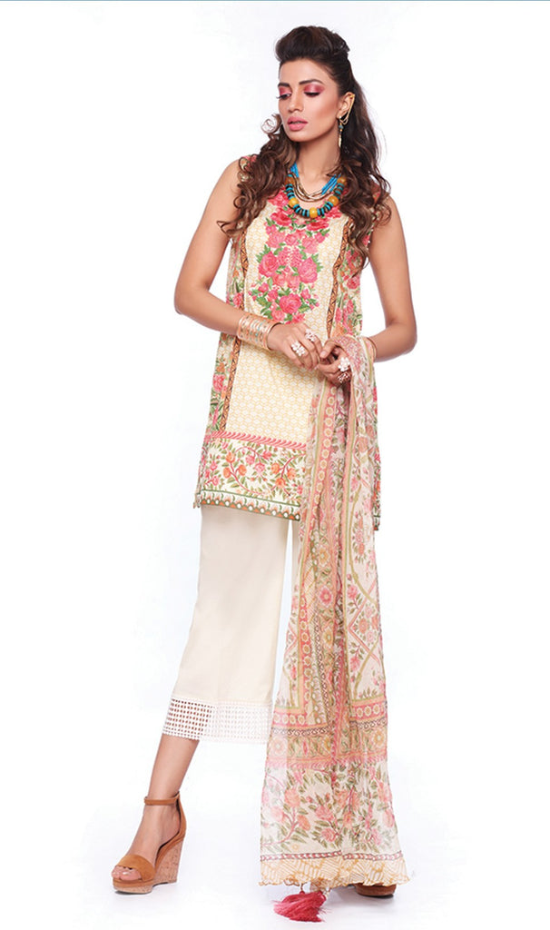 Sapphire Lawn Collection 2016 – Eid Edition –  Fresco Artistry A - YourLibaas  - 1