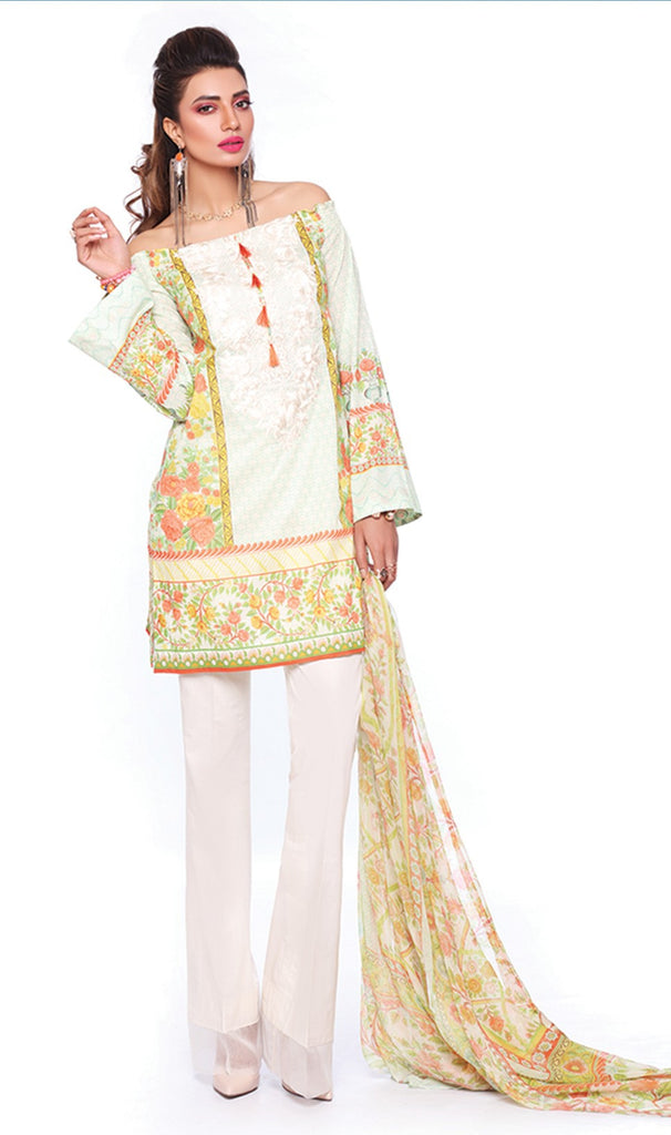 Sapphire Lawn Collection 2016 – Eid Edition – Fresco Artistry B - YourLibaas  - 1