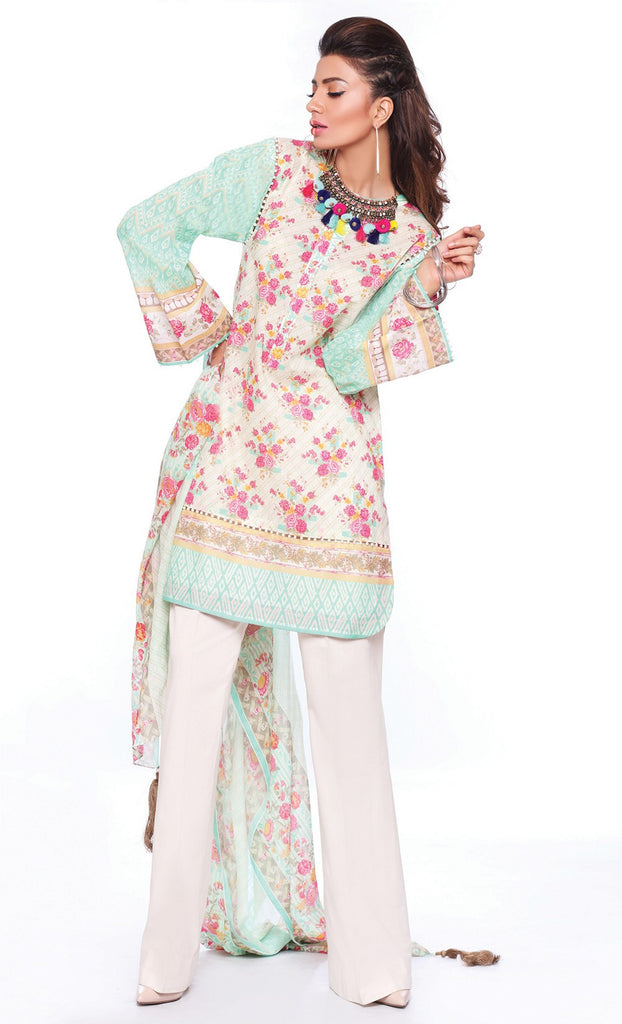 Sapphire Lawn Collection 2016 – Eid Edition –  Painted Blossom B - YourLibaas  - 1