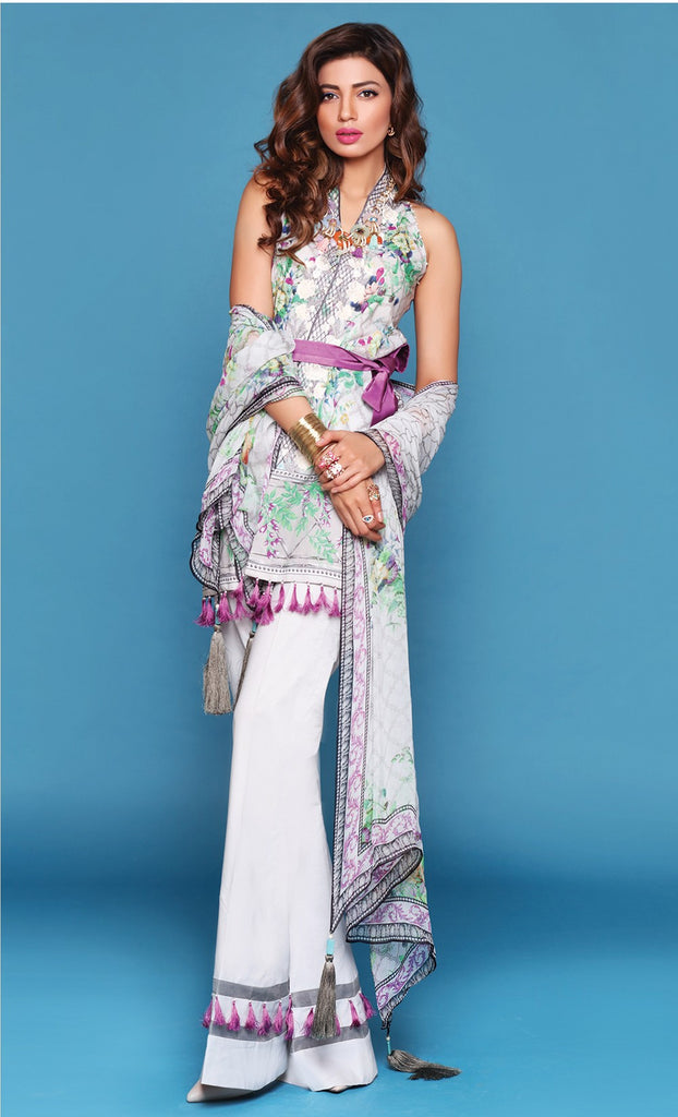 Sapphire Lawn Collection 2016 – Eid Edition –  Mystical Flowers A - YourLibaas  - 1
