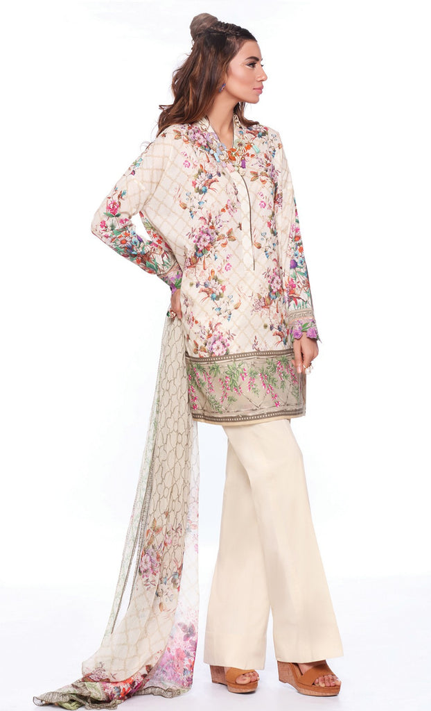 Sapphire Lawn Collection 2016 – Eid Edition –  Mystical Flowers B - YourLibaas  - 1