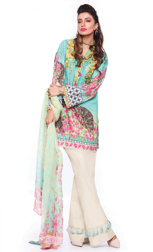 Sapphire Lawn Collection 2016 – Eid Edition –  Oriental Merriment A - YourLibaas  - 1