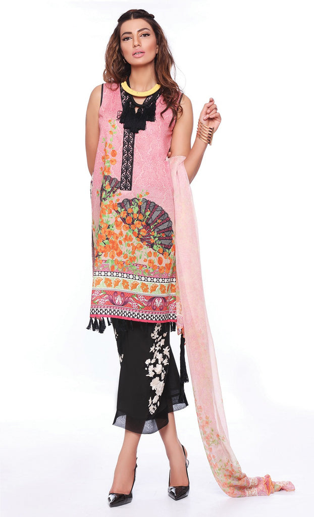 Sapphire Lawn Collection 2016 – Eid Edition – Oriental Merriment B - YourLibaas  - 1