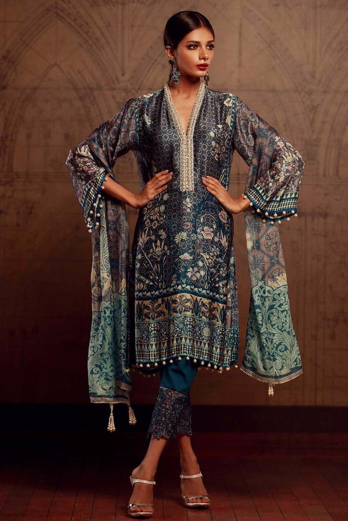Khaadi Luxury Collection 2017 – Navy Blue V17501
