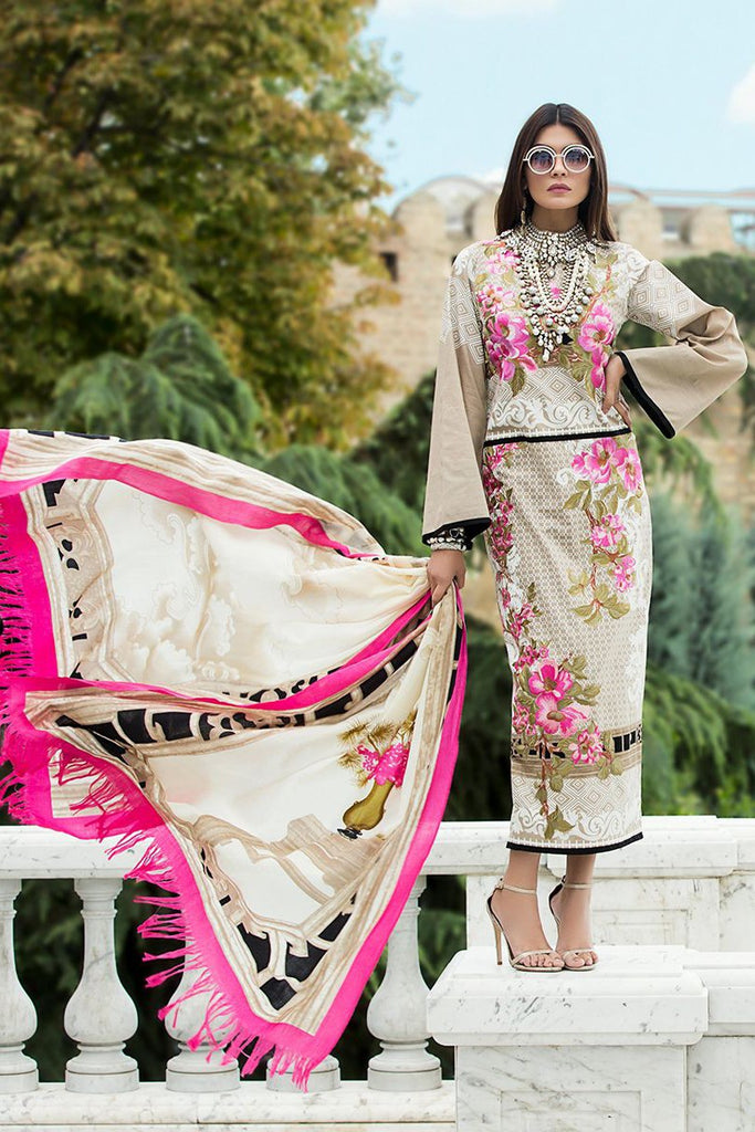 Sana Safinaz Winter Shawl Collection 2017 – 02A