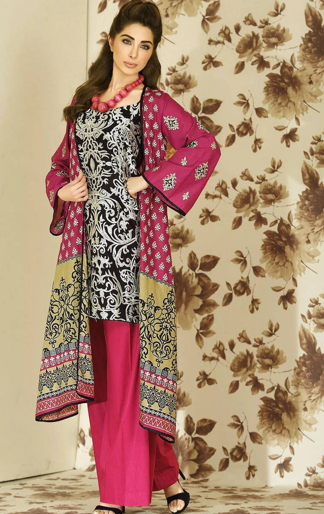 Lala Brocade Embroidered Lawn Kurti – BRK-02 - YourLibaas  - 1