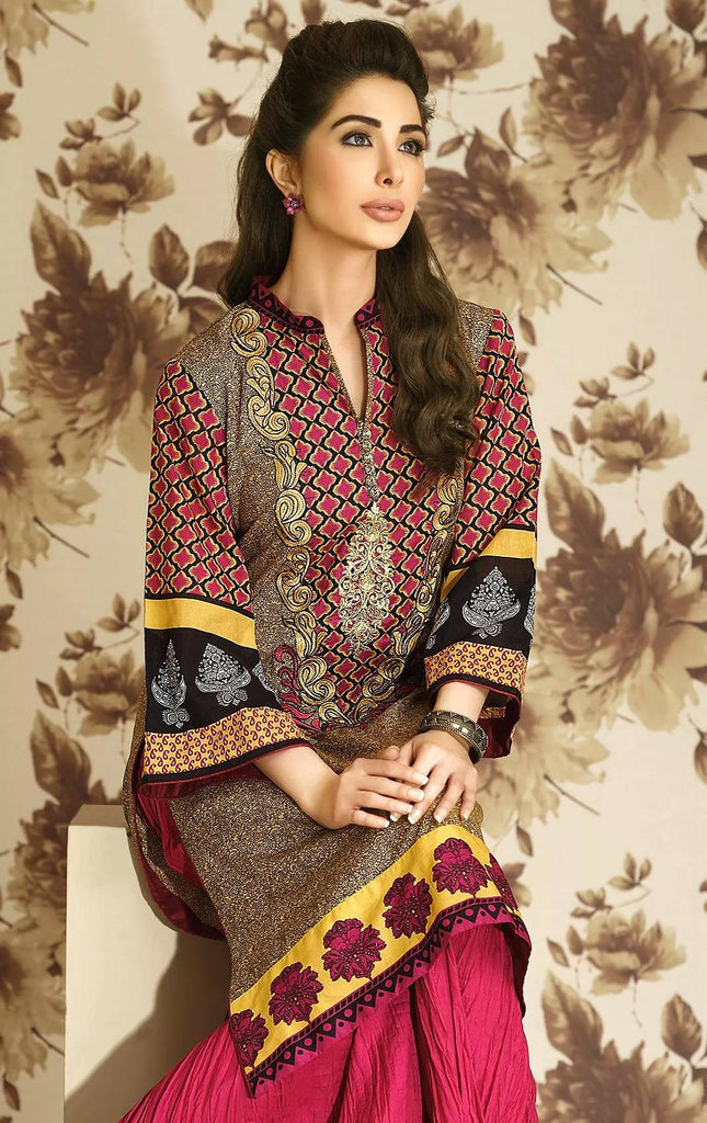 Lala Brocade Embroidered Lawn Kurti – BRK-04 - YourLibaas