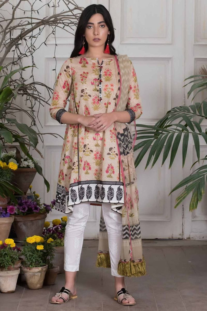 Khaadi Summer Lawn Collection 2018 Vol-2 – Y18201 Beige
