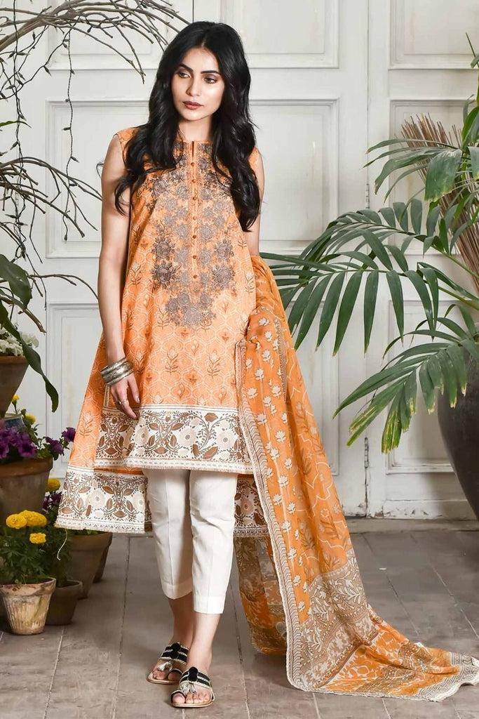 Khaadi Summer Lawn Collection 2018 Vol-2 – Y18202 Orange